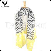 lady's fashion aztec pattern zigzag printed scarf