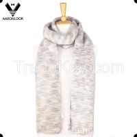 2016 new fashion multicolor space dyed yarn knitted long scarf