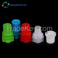 Colorful screw cap spout for pouch and bottle