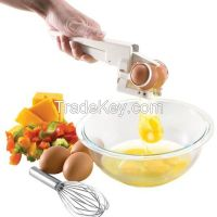 EZ Shell Cracker EZ Cracker with Yolk Separator Egg Separator