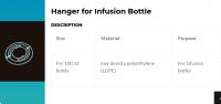 100 ml / 1500 ml Hanger For Infusion Bottle