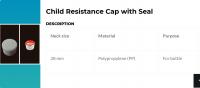 Child Resistance Cap
