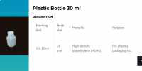 90 ml / 30 ml bottle