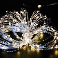 Solarmks 150LED 72Feet Warm White Solar String Lights on Flexible Copp