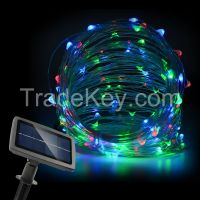 Solarmks 150LED 72Feet Multi Color Solar String Lights on Flexible Co