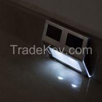 Solarmks Solar lights 2 LEDs White Solar Powered Staircase Step Light,