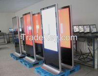 """46"""" Free Stand dual screen lcd screen, double sided lcd advertising display, lcd advertising player,lcd digital signage"""