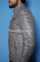 New Fashion Men 100%  Original Lamb Leather Fashion jacket Coat