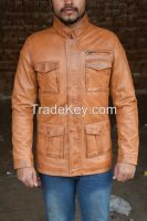 New Fashion Men 100%  Original Lamb Leather Fashion jacket Coat