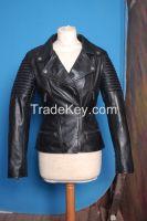 New Fashion Women 100%  Original Lamb Leather Fashion jacket Coat IUI 873