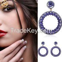Round Shape Swir CZ Wholesale Jewelry Fashion Earrings