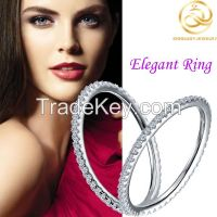 High Quality Supplier Elegant Ring With Rhodium plated