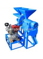 3hp/4hp diesel engine small rice milling machine 2.2kw 220v