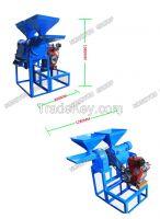 3hp/4hp diesel engine small rice milling machine 2.2kw 220v
