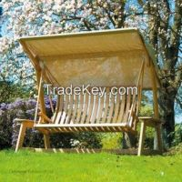 Alexander Rose Roble Garden Swing Seat with Canopy from Posh Garden Furniture