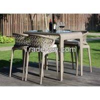 Skyline Designs Journey Rattan Outdoor Bar stools and Table Set at Posh Garden Furniture UK