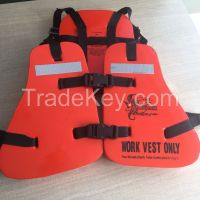 good quality life jacket vest on workwear