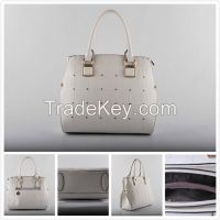 White Elegant Ladies Bag Light Color Bag Ladies Handbag (LY060203)