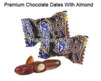 Premium Chocolate Dates with Almonds