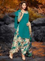 Breathtaking Turquoise Designer Suit