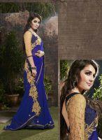 Mesmerizing Royal Blue Stylish Saree