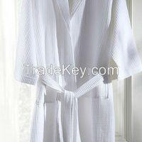 100%cotton waffle bathrobe for hotel /home use