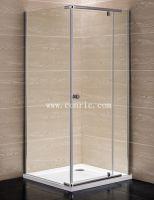 Chrome aluminum profile, swing door shower enclosure with 6mm glass