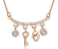 Rose gold 925 sterling silver necklace