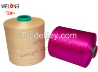 100% dope dyed polyester yarn price for knitting