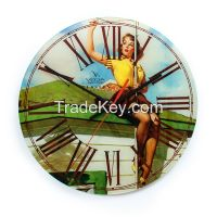 Pin-up girls Acrylic clock from Russian Federation VEGA