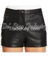 Women Fashion Leather Shorts
