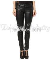 Women Fashion Leather Pants