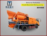 Truck mounted concrete mixer pump combined C6