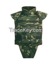 Removable Bullet-proof Jacket with groin, PE light-weight ballistic Jacket