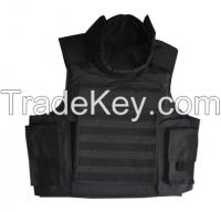 High performance Bullet-proof Jacket with groin, PE/kevlar/aramid ballistic Jacket