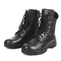 Military Tactical Training Boot,Good Quality Leather Combat Boot