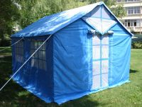 Military disaster relief tent, Blue refugee tent�double layer tent