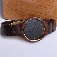Custom luxury men women wood watch quartz wrist watches