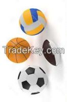 Football, Basketball, Volleyball, Rugbyball