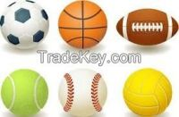 Football, Basketball, Volleyball, Rugbyball