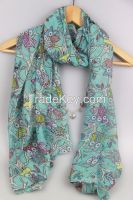 Top Fashion New Arrival Printed Voile Lady Scarf 0202