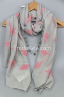 Top Fashion Woven Screen Printed Voile Scarf 4201
