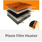 Film heater for floor and wall