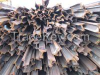 Scrap steel rails