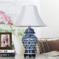 Chinese Blue and White Porcelain Lamp