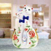 Cat Shaped Porcelain Enamel Vase