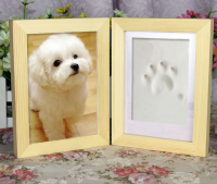 hot sale pet paw print frame accessory footprint clay
