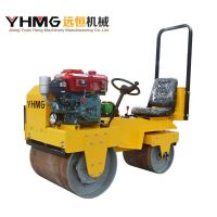 Double Drum Ride on Vibratory Water-Cooled Road Roller Compactor