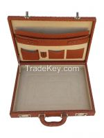 OSTRICH LEATHER EMBOSSED BRIEFCASE