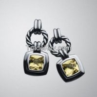 David Yurman 7mm Blue Topaz Petite Albion Earrings